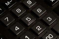 Calculator buttons closeup Royalty Free Stock Image