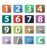 Calculator buttons in flat design Royalty Free Stock Photo