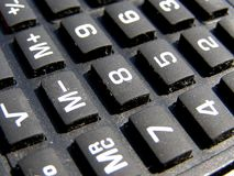 Calculator buttons keyboard Stock Image