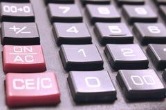 Calculator buttonsc loseup Royalty Free Stock Photos