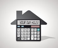 Calculator - buying a house Royalty Free Stock Image