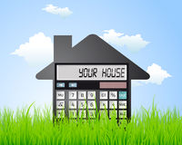 Calculator - buying a house Royalty Free Stock Images