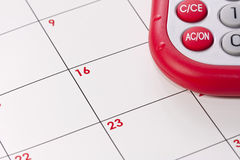 Calculator and calander Royalty Free Stock Images