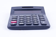 Calculator for calculating the numbers accounting accountancy business calculation on white background isolated. (front view)rn stock photo