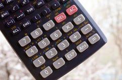 Calculator Calculatorknopen De aantallen op de knopen van de calculator Het apparaat om te tellen wiskunde royalty-vrije stock foto's