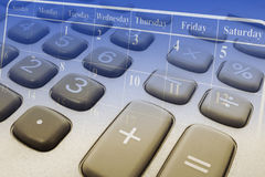 Calculator and Calendar Royalty Free Stock Images