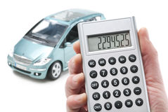 Calculator and car Stock Photography
