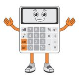 Calculator cartoon. I made it using coreldraw. Very suitable for printing, nweb and other digital purposes Stock Image