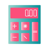 Calculator for a child. Pink calculator for a child Stock Photo