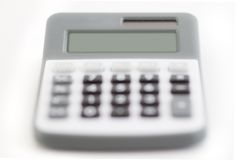 Calculator - clean display Stock Images