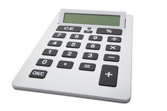 Calculator with Clipping Path Stock Photo