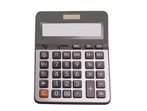 Calculator. clipping path. Calculator , isolated on white background. clipping path Royalty Free Stock Photos