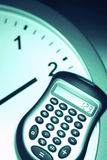 Calculator on Clock royalty free stock photography