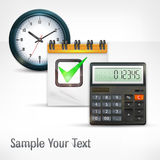 Calculator & clock Royalty Free Stock Image