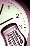 Calculator on Clockface Royalty Free Stock Images