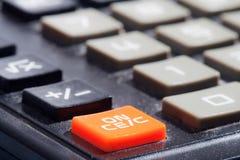Calculator. close up. Royalty Free Stock Photos