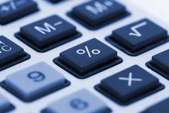 Calculator close up Stock Photos