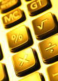 Calculator. Close up of a digital calculator Stock Photo