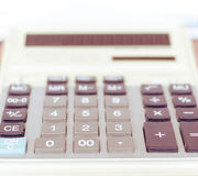 Calculator. Close-up shot focus on percentage Stock Photos