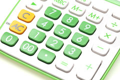 Calculator closeup Stock Photography