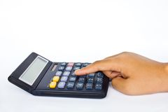Calculator closeup Royalty Free Stock Image