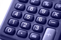 Calculator Closeup Stock Photo