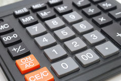 Calculator Closeup Royalty Free Stock Photos