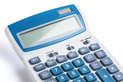 Calculator Closeup White Stock Photography