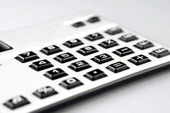 Calculator Closeup on White Background Royalty Free Stock Photo