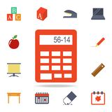calculator colored icon. Detailed set of colored education icons. Premium graphic design. One of the collection icons for websites stock illustration
