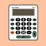Calculator comic vector Royalty Free Stock Photo