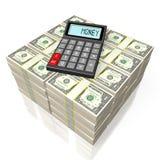 Calculator concept. 3D calculator concept - on white background Stock Photos