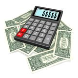 Calculator concept. 3D calculator concept - on white background Royalty Free Stock Photography