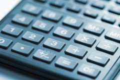 Calculator Control Panel. Focus on center of keys stock photo