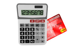 Calculator with Credit Card Royalty Free Stock Images