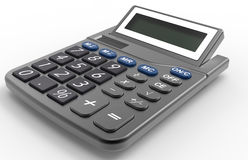 Calculator. 3D rendered illustration of a calculator. The composition is isolated on a white background with shadows Stock Photos