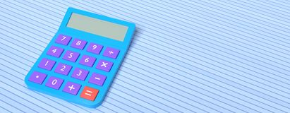 calculator 3d rendering Royalty Free Stock Photography