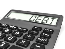 Calculator with DEPT on display. Royalty Free Stock Images