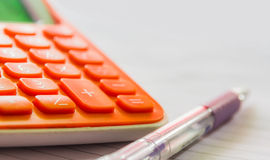 The calculator. The calculator for design banking or finance project Stock Photography
