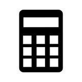Calculator design. black icon. Calculator concept with icon design,  illustration 10 eps graphic Stock Images