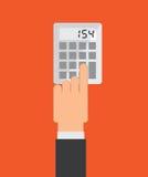 Calculator design Royalty Free Stock Image
