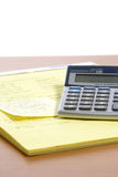 Calculator on Desk Stock Photo