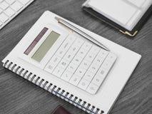 Calculator on desk. Closeup detail Royalty Free Stock Photos