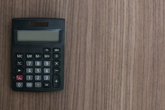 Calculator on the desk Royalty Free Stock Photography
