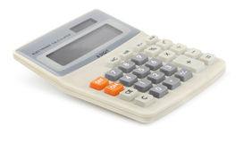 Calculator. Desktop calculator isolated on white Stock Photo