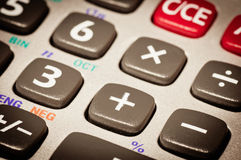 Calculator detail Royalty Free Stock Images