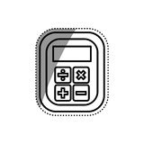 Calculator device isolated Royalty Free Stock Image