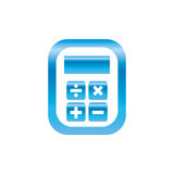 Calculator device isolated Royalty Free Stock Images