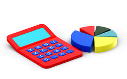 Calculator and diagram Royalty Free Stock Images
