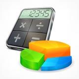 Calculator & diagram Royalty Free Stock Image